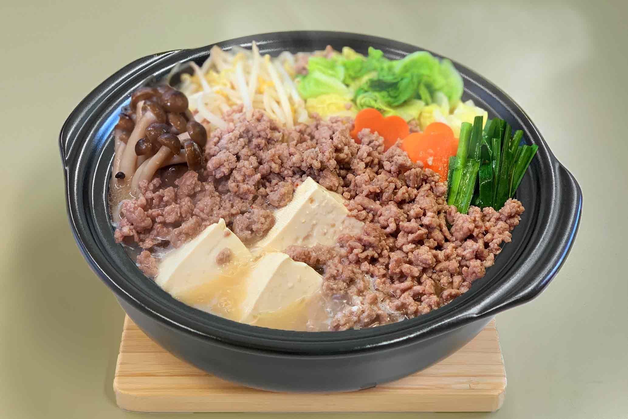 豆腐とひき肉そぼろ鍋